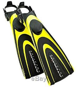 Atomic Aquatics Blade Fin for Scuba Diving and Snorkeling Fin, Small, Yellow