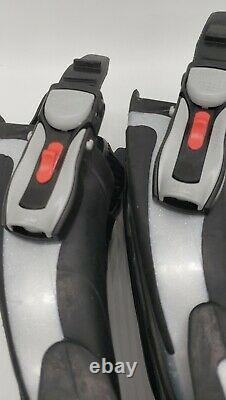 Black And Silver Scuba Diving Fins Flippers Size Small Italy Mares Volo Power