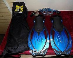 Body Glove Scuba Diving Expanse II Fins, Snorkel & Mask with Bag