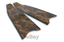 Brown Camo Stereoblades Spearfishing Freediving Fins Scuba Diving