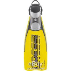 Cressi Ara Open Heel Soft Blade Scuba Diving Fins with Bungee Straps