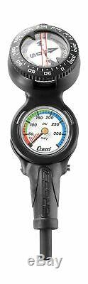 Cressi Console CP2 Pressure Gauge + Compass for Scuba Diving Made in Italy