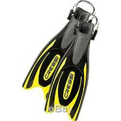 Cressi Frog Plus Open Heel Scuba Dive Fins (Made in Italy), Black/Yellow, XS/S-4
