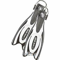 Cressi Frog Plus Open Heel Scuba Dive Fins (Made in Italy), Black/white, XS/S-4