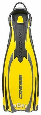 Cressi Reaction EBS Yellow Silver M L Made with the exclusive Cressi