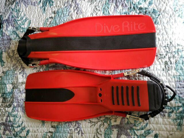 Dive Rite Red Xt Scuba Diving Fins With Stainless Steel Spring Heel Straps Large