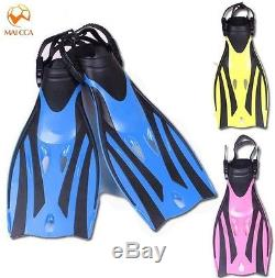 Diving Flippers Adjustable Scuba Kids Swimming Shoes Submersible Snorkeling Fins