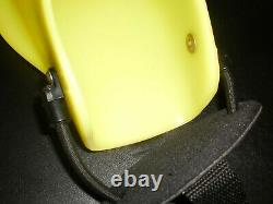 Force Fin Pro Yellow Scuba Diving Fins Bungee Strap Heel Size L Adult