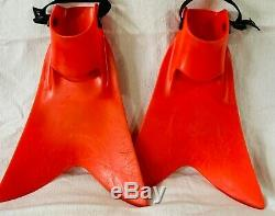 Force Fin Red Scuba Diving/Fishing Fins size Medium
