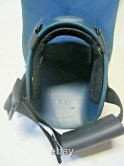 Force Fin Scuba Diving Swim Fins Adult Size M/l Comfort Instep Navy Seals Used