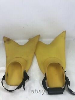 Force Fin Yellow Scuba Diving Fins Diving Snorkeling Flippers Size Large