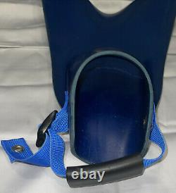 Force Fins Sz M Blue Scuba Diving Fins Boogie Boarding Free Diving Military Use