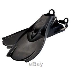 Hollis F-1 Bat Fin OH Scuba Diving Tech Fins withSpring Strap Black NEW All Sizes