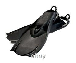 Hollis F1 Bat Fin Vented Blade Scuba Diving Fins with Spring Straps