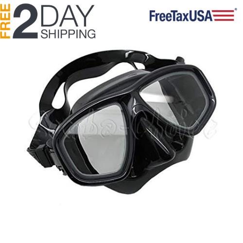 Lightweight Scuba Diving Snorkeling Mask With Wide View Tempered Glass Lens (-4.0)
