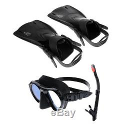 MagiDeal Snorkeling Set Scuba Diving Flippers Fin With Dry Snorkel Dive Mask