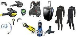 Mares Aqualung Holiday Tauch-Komplettset Diving Equipment Complete Dive Set