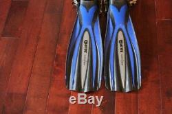 Mares Avanti Quattro + PLUS Open Heel Scuba Diving Fin (only used six times)
