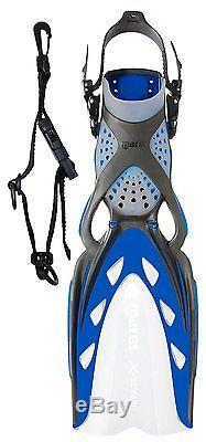 Mares Scuba Diving Fins X-stream with Fin Holder Clip, XSmall Blue