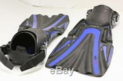 Mares Volo Power Fin Mask Snorkel Scuba Diving Set Blue Extra Large 11 to 13