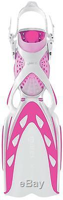 Mares X-Stream Open Heel Scuba Diving and Snorkel Fins Small Pink/White