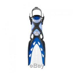 Mares X-Stream Open heel Scuba Diving and Snorkeling Fins X-Large Blue
