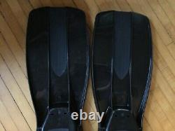 NEW Dive Rite Fins with Stainless Steel Spring Straps Size Large Black Scuba