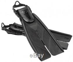 Oceanic V12 Split Fins for Scuba Diving and Snorkeling X-Small