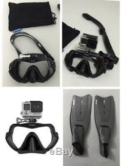 Professional Scuba Diving & Snorkeling Set (GoProNot included) Fin size 10-11 US
