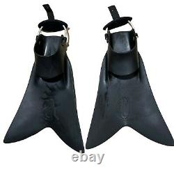 Scuba Dive Force Fin Black Large With Bungee Snorkel Vacation Good Condition