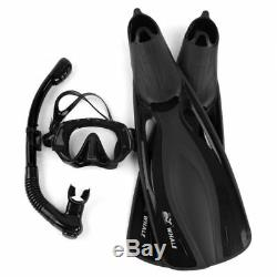 Scuba Diving Mask Polyester Diving Equipment Swimming Fins Flippers Goggles Set