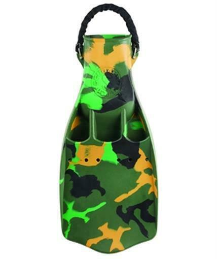 Scubapro Camo Jet Fins With Spring Heel Strap Scuba Free Diving Snorkel Size Md