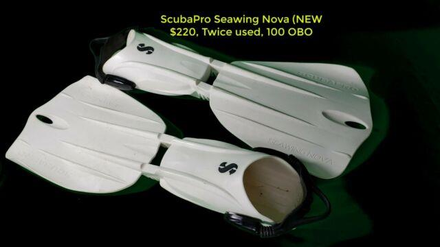 Scubapro Seawing Nova, Large, White, Worn On Two Navy Dives For Fun
