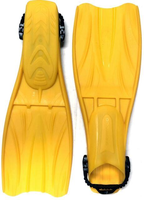 Sherwood Triton Limited Edition Yellow Sample Fins Open Heel For Scuba Diving