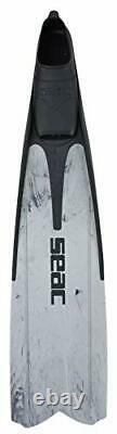 Shout, Long Fins for Scuba Diving, Spearfishing and Freediving 8-8.5 Grey