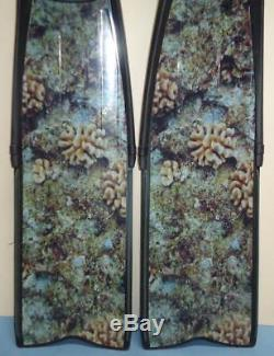 Sporasub Spitfire 45/46 Camouflage Spearfishing Freediving Scuba Diving Fins