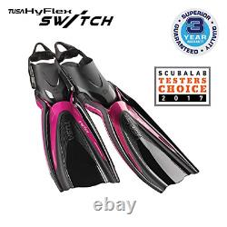 TUSA SF-0104 Hyflex Switch Scuba Diving Fins, X-Small, Rose Pink