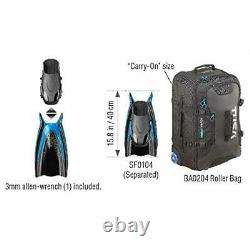TUSA SF-0107 Hyflex Switch Scuba Diving Fins Large Transparent Yellow