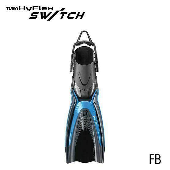 Tusa Hyflex Switch Scuba Diving Fins Sf0104 Fish Tail Blue Size S