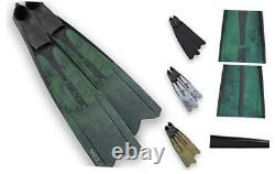 Unisex's Shout Camo S700, Long Fins for Scuba Diving, Spearfishing and Freedivi