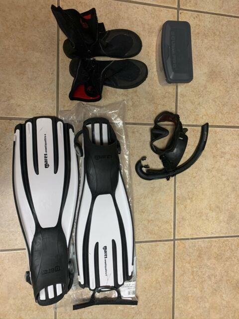 Used Scuba Diving Gear. Comes With Mask, Fins And Boots. Boots Are Size 12