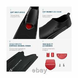 WAVE Long Blade Diving Fins for Freediving and Spearfishing Fins Scuba Diving