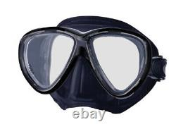 (blksilicone/black) Tusa M-211 Black Freedom One Scuba Diving and